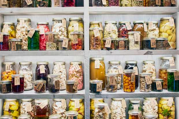 Scully, London SW1 pickles and fermenting jars
