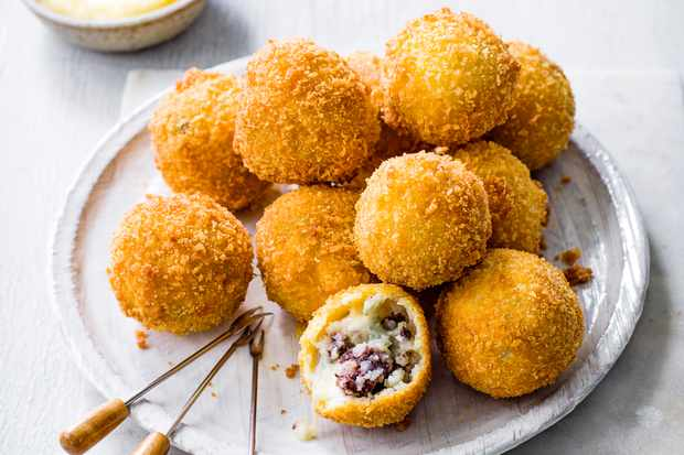 Black Pudding Croquettes with Apple Sauce