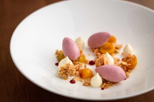 Pretty desserts at The Pentonbridge Inn