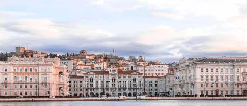 Piazza Unita D'Italia the main square in Trieste, a seaport city in northeast Italy