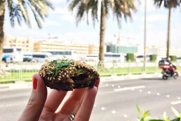 Tackle a giant, stuffed falafel on a Frying Pan Adventures tour