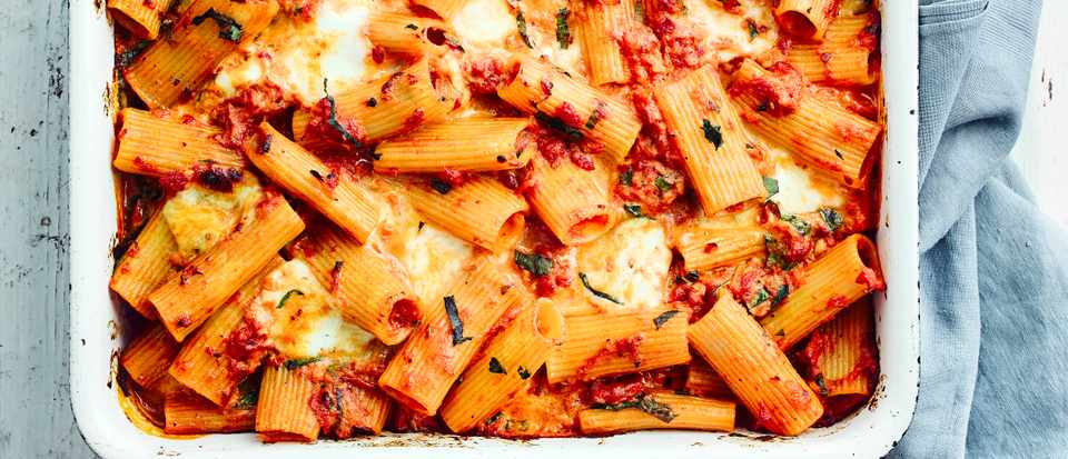 Vegetable Pasta Bake Recipe with Tomato and Basil