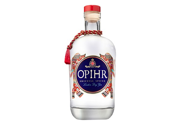 Glass bottle of Ophir gin