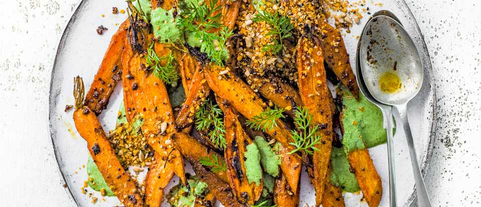Middle Eastern Carrot Salad with Herb Yogurt