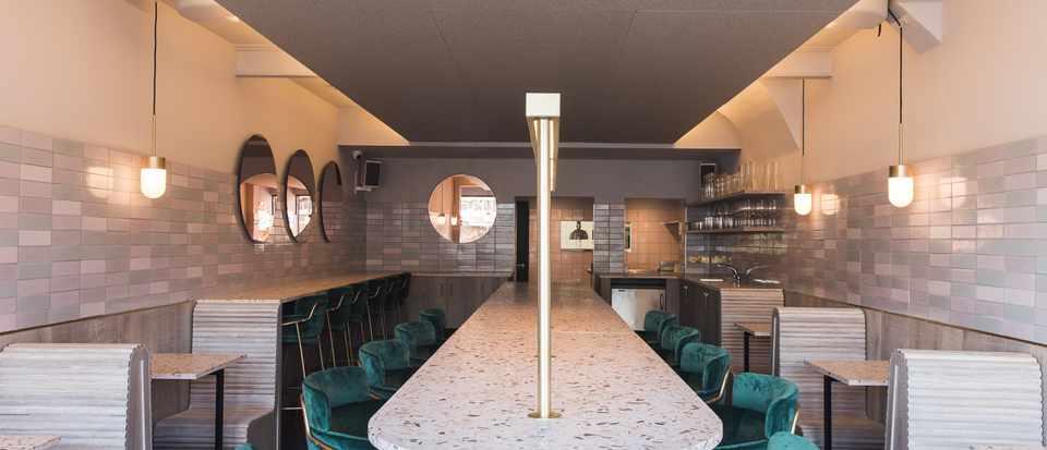 A restaurant interior