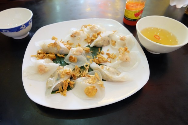 Freshly prepared dumplings at White Rose