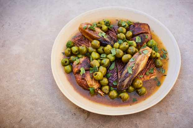 Roast duck with olives at St Leonard's. Credit Steve Ryan