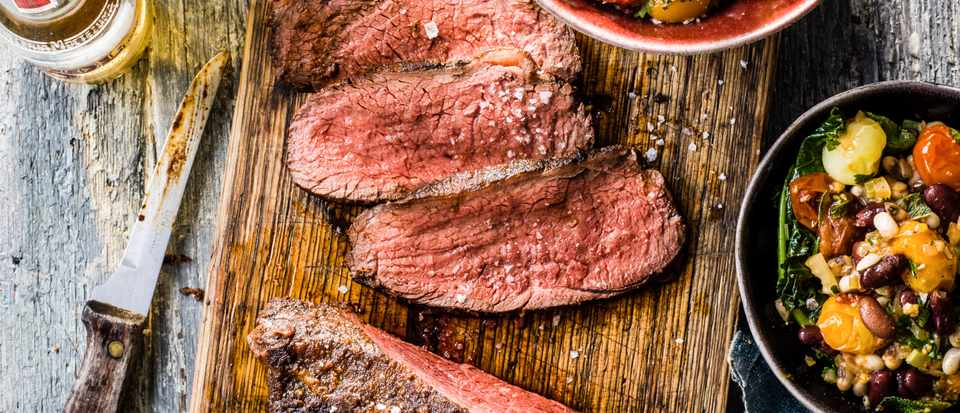 Picanha Meat Recipe with Bean Salad