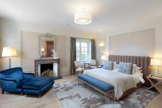 Stunningly chic rooms at Château la Chenevière