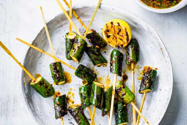Courgette Vegetable Skewers Recipe