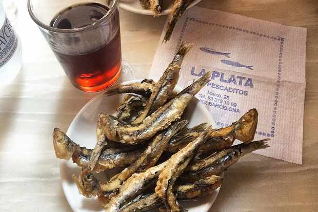 Little fried fish at Bar La Plata Barcelona