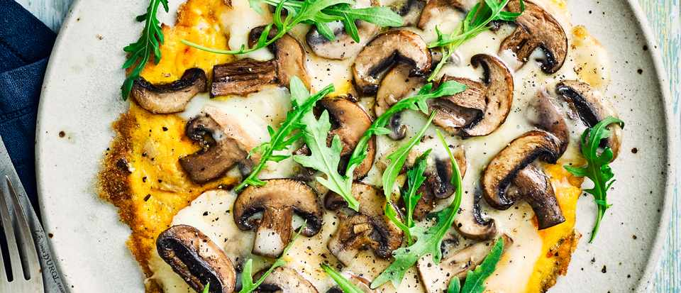 Easy Omelette Recipe with Mushroom and Cheese