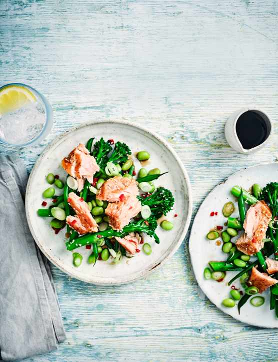 Salmon Salad Recipe With Green Beans and Broccoli