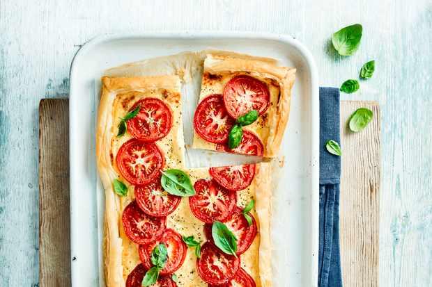 Tomato and Ricotta Tart Recipe with Parmesan