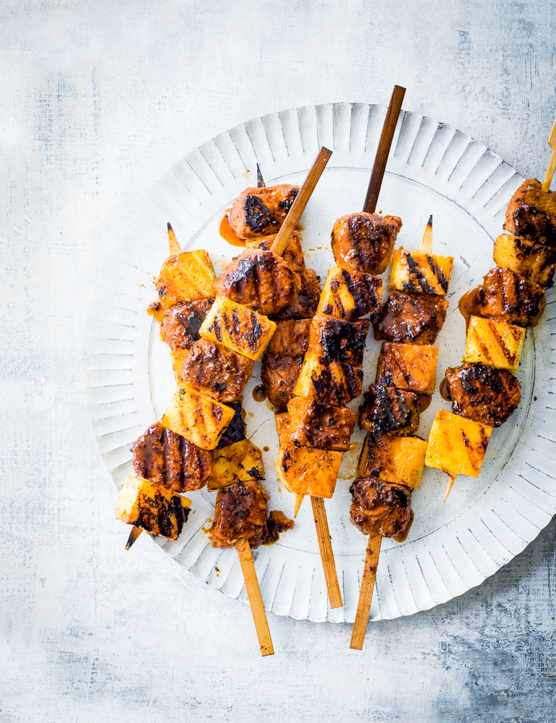 Pork and Pineapple Skewers