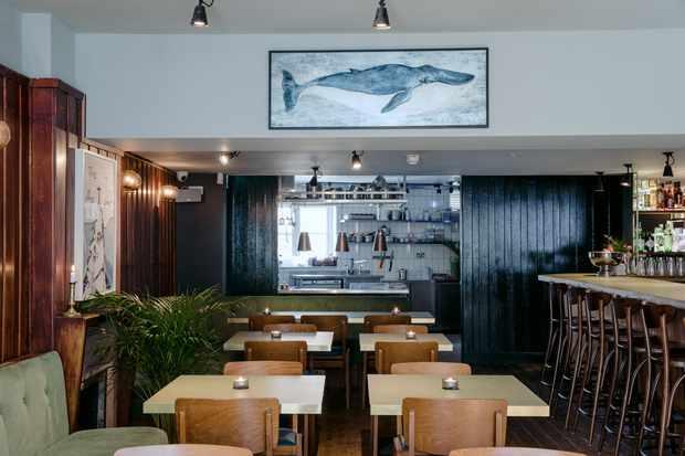 Enjoy comfort-food classics in the stylish restaurant