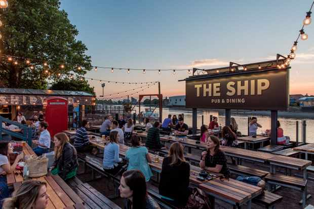 The Beer Garden at The Ship Pub, Wandsworth