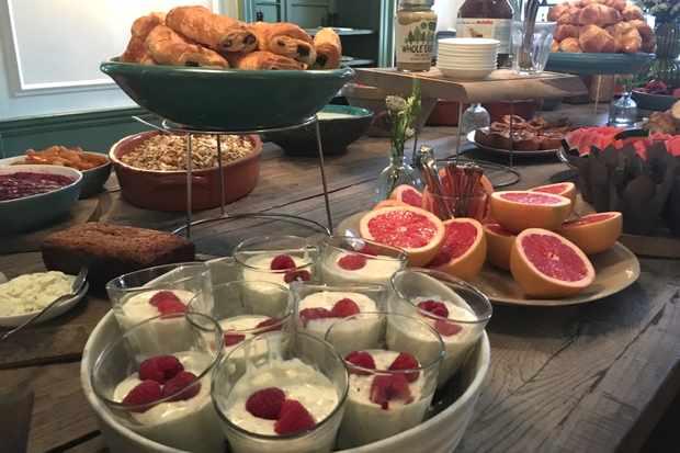 Graze on the indulgent breakfast spread