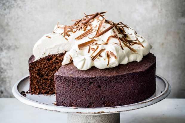 Chocolate Amaretto Almond Cake Recipe