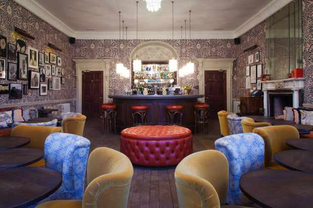 Stop by before dinner and sip on one of Babington House's inventive cocktails