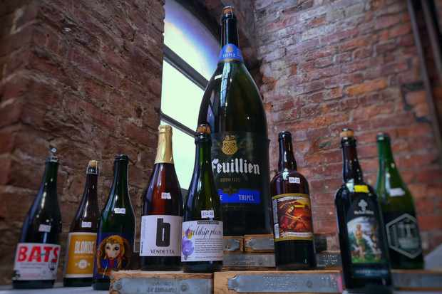 Bottles of beer at Beermoth Manchester