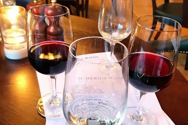 Wine at Hero of Maida