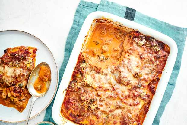 Butternut Squash Lasagne Recipe with Sausage