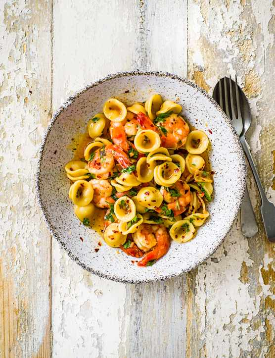 Orecchiette Pasta Recipe with Prawns
