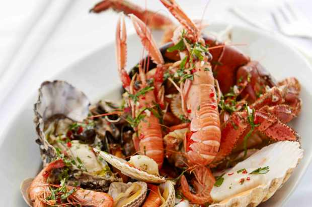 Shellfish platter at Seafood Restaurant Padstow