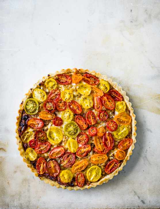 Tomato Tart Recipe with Olive Oil Pastry