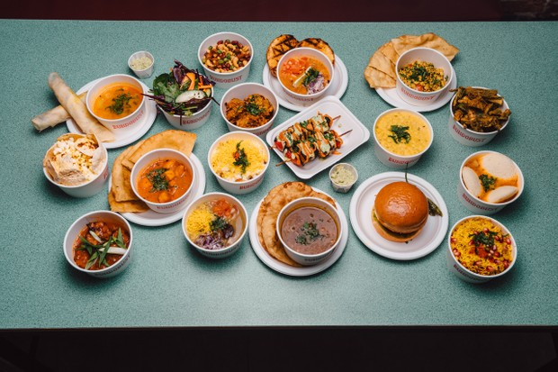 Lots of Indian street food dishes at Bundobust Manchester