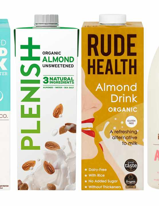 Almond milk taste test header image