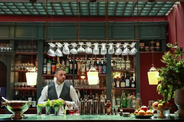 The bar at Cora Pearl