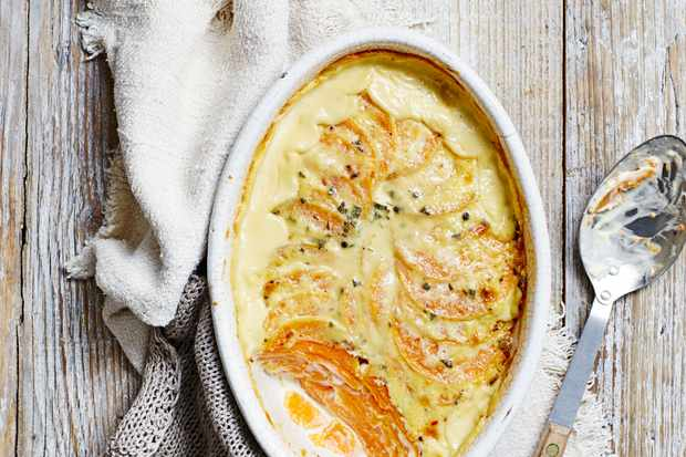 Butternut Squash Gratin Recipe with Sage