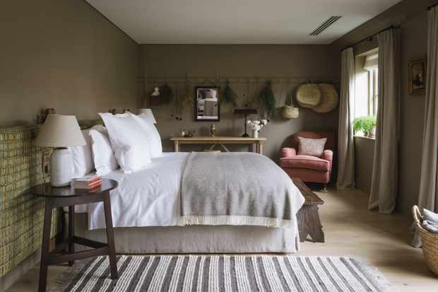 One of Heckfield place stylish bedrooms