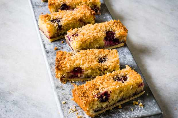 Cherry Bakewell Recipe with Coconut