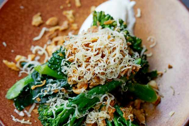 Long Stem Broccoli Recipe with Smoked Yogurt