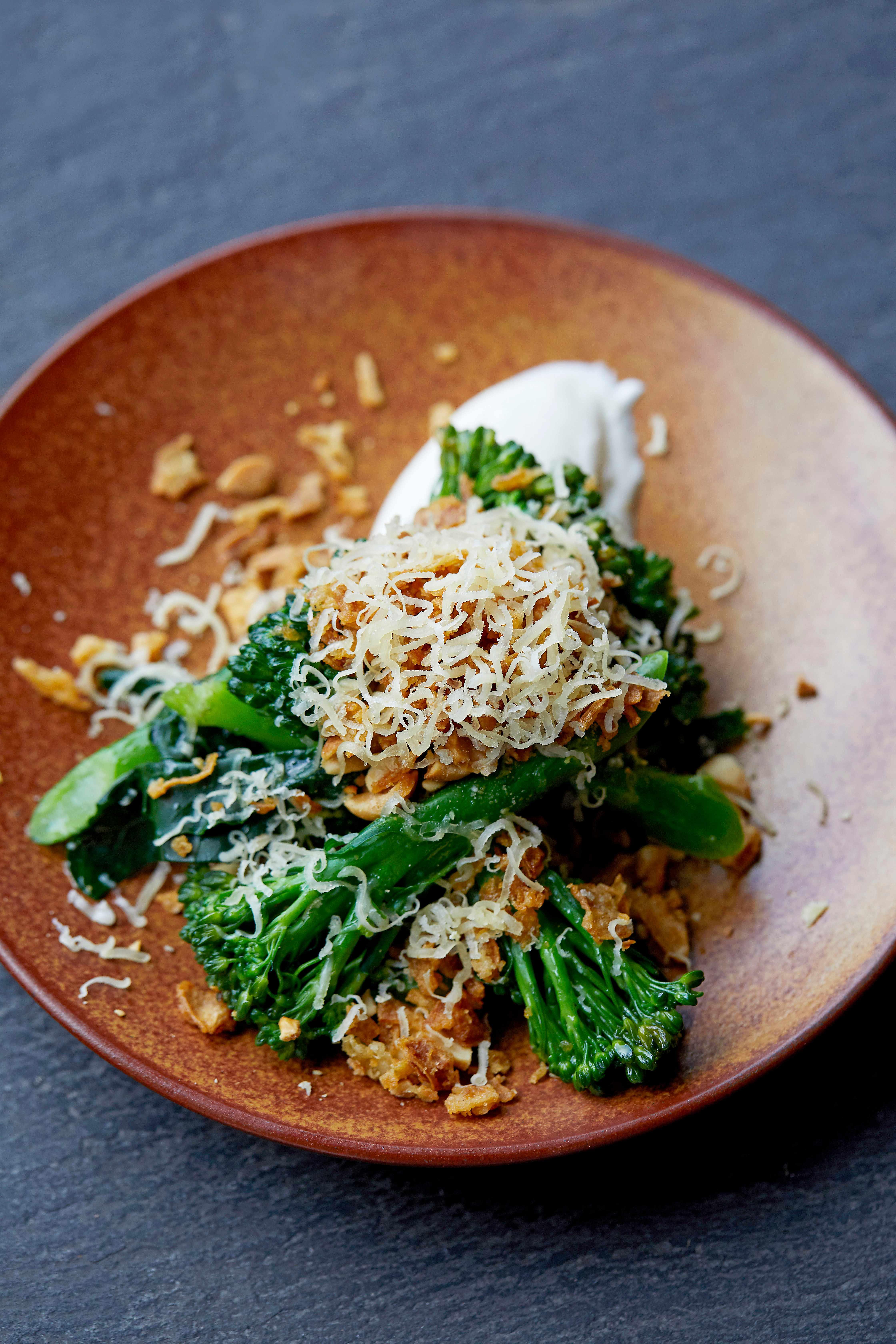 Long Stem Broccoli Recipe with Smoked Yogurt
