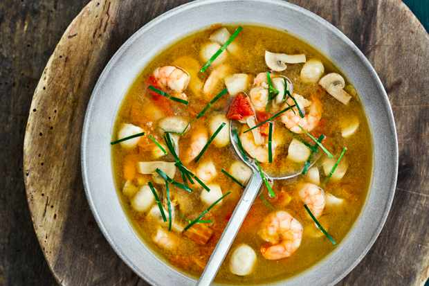 Tom Yum Soup with Prawns