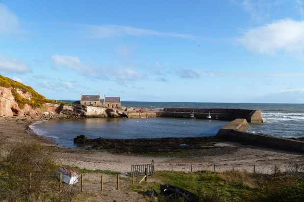 The Blue Cabin by the Sea, Berwickshire