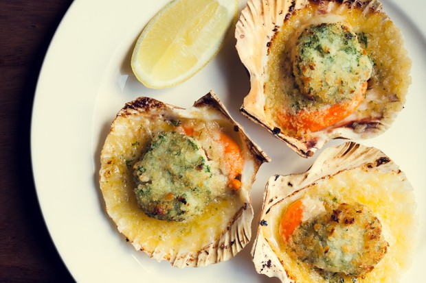 Hand-dived scallops