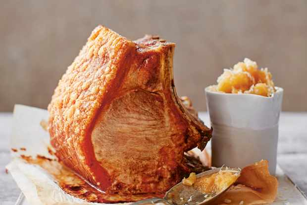 Pork Loin Roast with Apple Horseradish (Apfelkren)