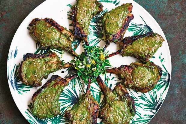 Lamb Cutlets Recipe with Green Miso