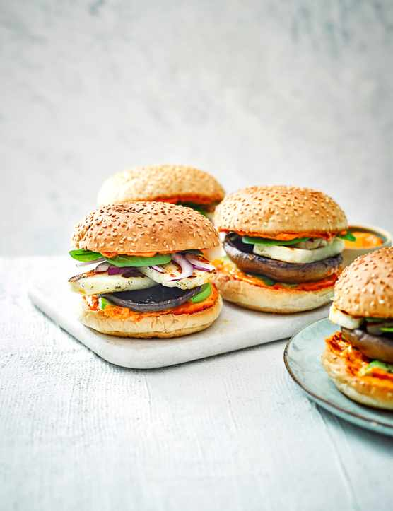 Mushroom and Halloumi Burger Recipe