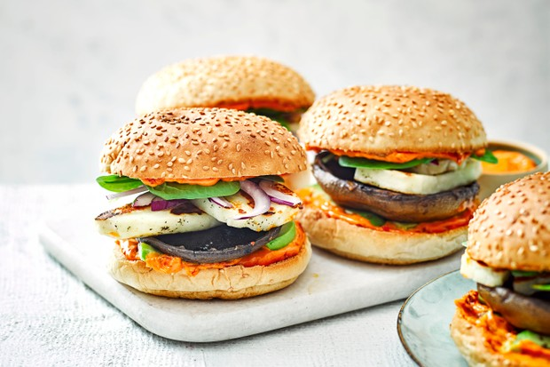 Mushroom and Halloumi Burger Recipe