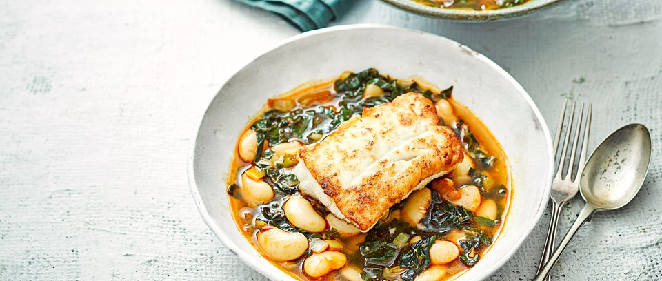 Pan Fried Cod Recipe With Butter Beans Olivemagazine