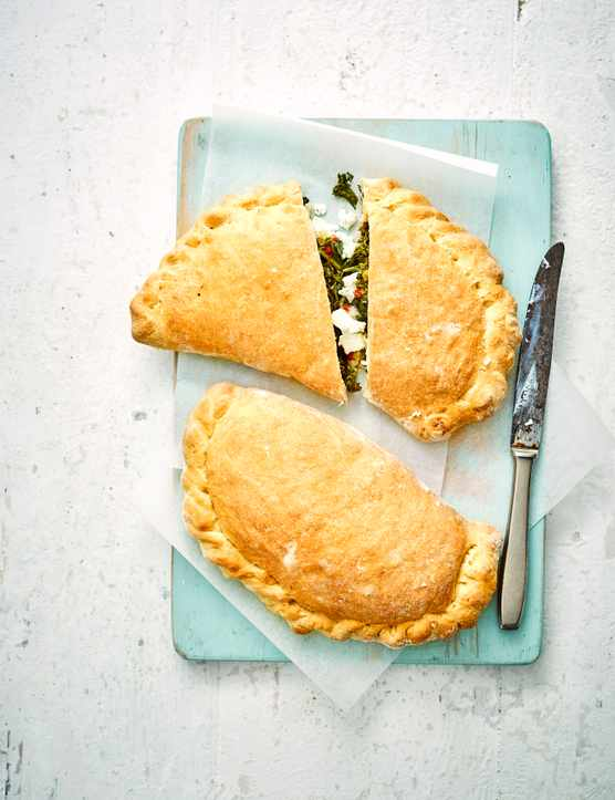 Vegetarian Calzone Recipe with Kale and Ricotta