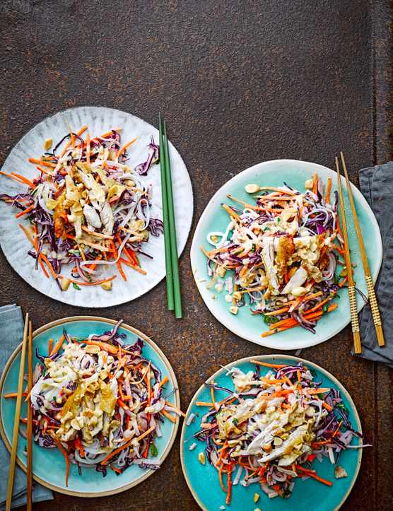 Satay Chicken Noodle Salad Recipe