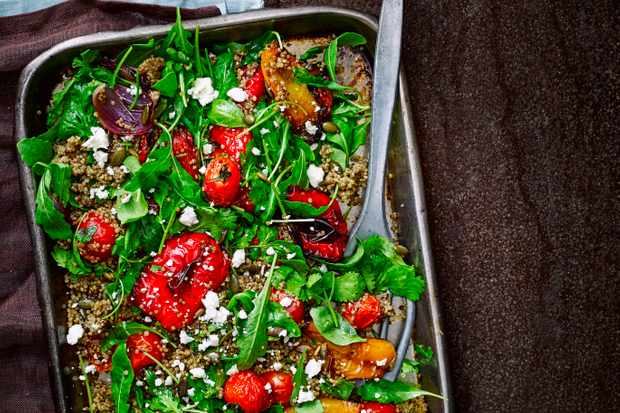 Roasted Veggie Salad Recipe with Feta