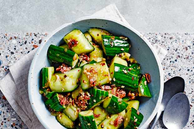 Smashed Cucumber Recipe with XO Sauce